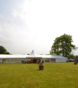 Yarlington Marquee on the lawn
